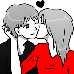 Manga couple in love 2