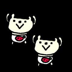 <シンプル>いちごパンツくま Bear berry