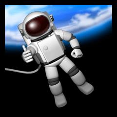 宇宙飛行士のスタンプ