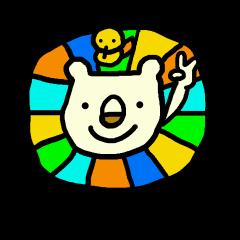 Happy colorful らいおん2