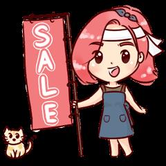 happy seller online & a little cat