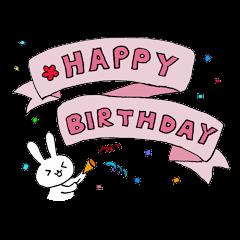 お誕生日を全力で祝うえんぴつうさぎ