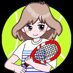 ひなっちのテニススタンプ