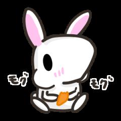 [LINEスタンプ] 白ウサさん 日常スタンプ (1)