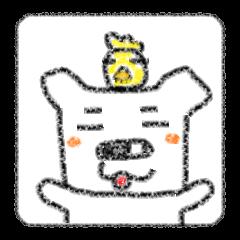 変な耳のクマ