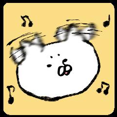 [LINEスタンプ] 無言のネコ 若干激しい