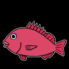 魚たちのスタンプ