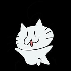 敬語を使う落書き猫