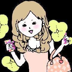 キラキラ巻き髪女子