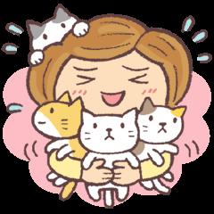[LINEスタンプ] 猫だすけ 2(人と猫) (1)