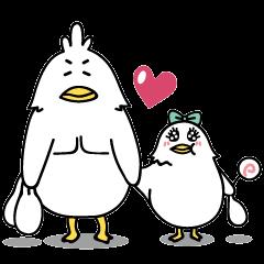 ラブラブカップルスタンプ(鳥)