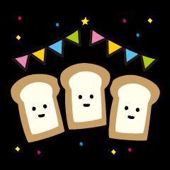 [LINEスタンプ] パンパン食パン (1)