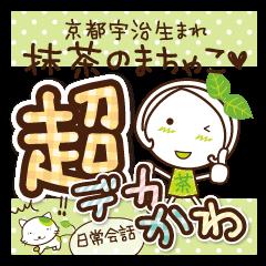 京都宇治生まれ抹茶のまちゃこデカかわ文字