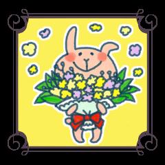 [LINEスタンプ] 優しいウサギに癒されて