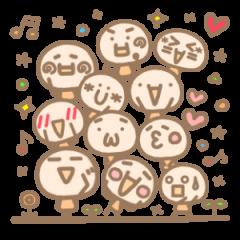 [LINEスタンプ] 顔文字の気持ち カラフル (1)