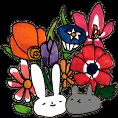 お花とどうぶつ