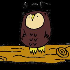 フクロウの袋山福郎さん