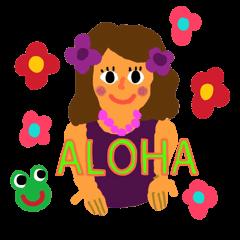 カエル君 ハワイに行く (ENGLISH)