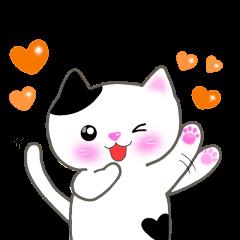 [LINEスタンプ] おちゃめ猫の画像(メイン)